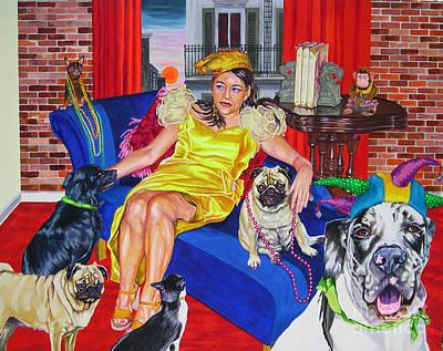 Mardi Gras Dawn Original by Louise Hallauer