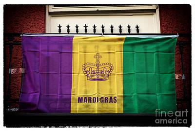 Mardi Gras Flag Original by John Rizzuto