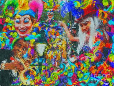 Mardi Gras Painting - Mardi Gras by Kevin Rogerson
