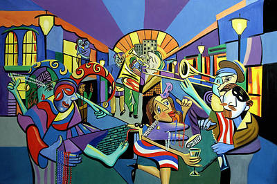 Trombone Digital Art - Mardi Gras Lets Get The Party Started by Anthony Falbo