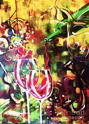 Mardi Gras Painting - Mardi Gras by Lisa Owen-Lynch