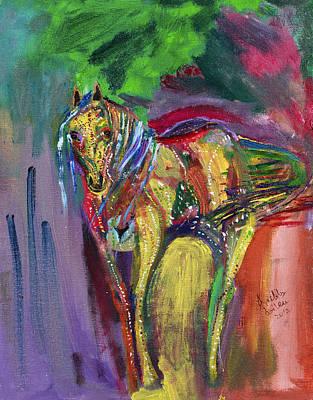 Mardi Gras Painting - Mardigras Horse by Swabby Soileau