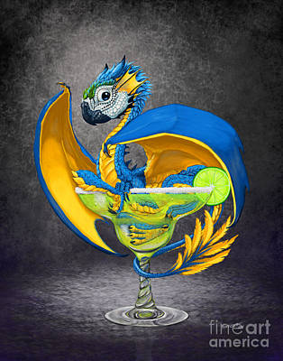 Macaw Digital Art - Margarita Dragon by Stanley Morrison