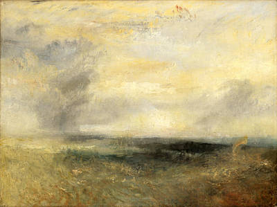 Joseph Mallord William Turner Painting - Margate From The Sea by Joseph Mallord William Turner