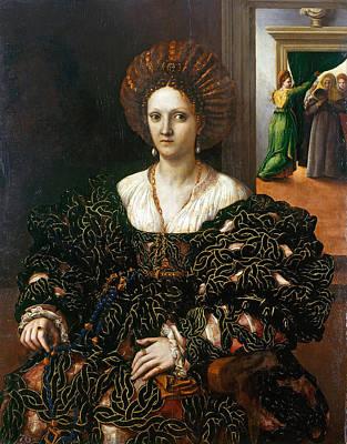 Giulio Romano Painting - Margherita Paleologo by Giulio Romano