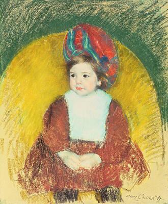 Cassatt Pastel - Margot by Mary Stevenson Cassatt