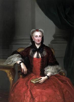 Anton Raphael Mengs Painting - Maria Amalia Of Saxony by Anton Raphael Mengs