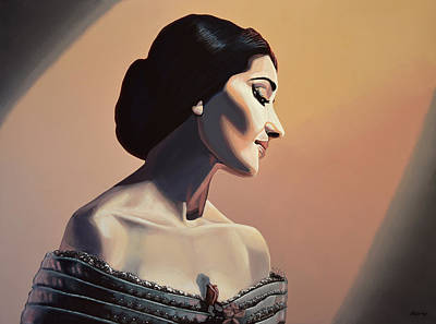 Maria Callas Painting Print by Paul Meijering