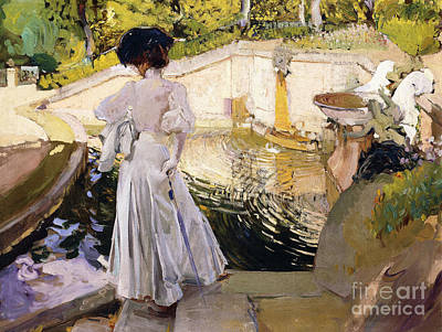 Spain Painting - Maria Looking At The Fishes by Joaquin Sorolla y Bastida