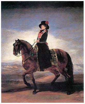 Women On Horses Painting - Maria Luisa On Horseback by Francisco de Goya