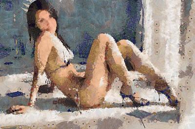 Maria Ozawa Beautiful And Sexy Lady Print by Teara Na