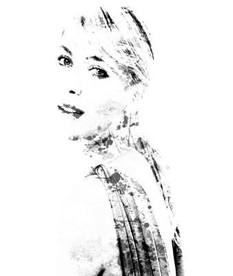 Maria Sharapova Digital Art - Maria Sharapova Paint Splatter 1a by Brian Reaves
