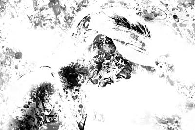 Maria Sharapova Paint Splatter 4g Print by Brian Reaves