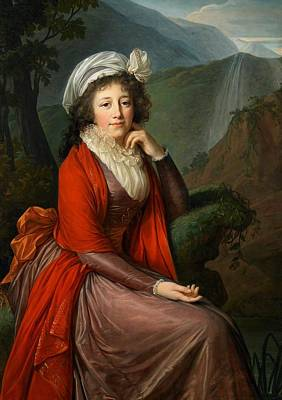 Eighteenth Century Painting - Maria Theresia Bucquoi by Elisabeth Louise Vigee Lebrun