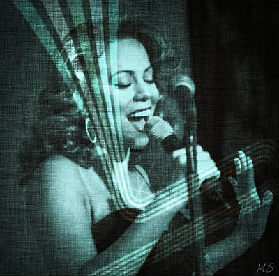 Songstress Digital Art - Mariah Carey - Beautiful Alchemy by Absinthe Art By Michelle LeAnn Scott