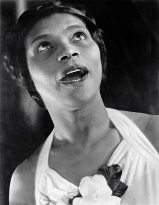 African-american Photograph - Marian Anderson Singing by Underwood Archives
