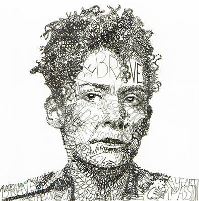 Iraq Drawing - Marianne Pearl by Michael  Volpicelli