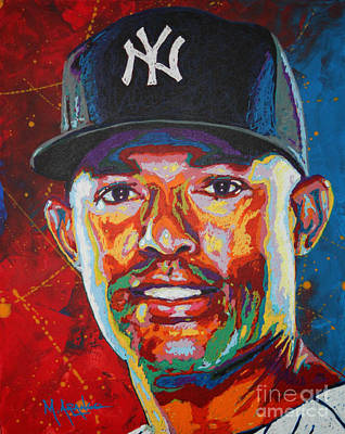 Major League Baseball Painting - Mariano Rivera by Maria Arango