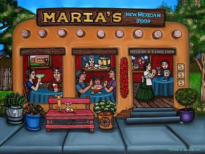 American Food Painting - Maria's New Mexican Restaurant by Victoria De Almeida