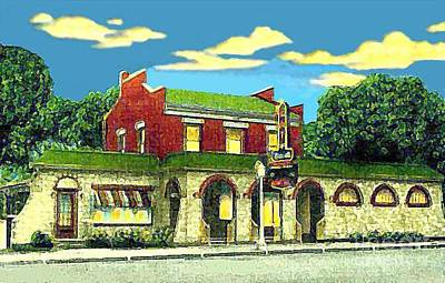 Bowling Alley Painting - Marie's Bowling Alley Cafe And Bar In Sauk City Wi Around 1940 by Dwight Goss
