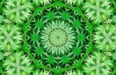 Ganja Mixed Media - Marijuana Kaleidoscope Poster by Dan Sproul
