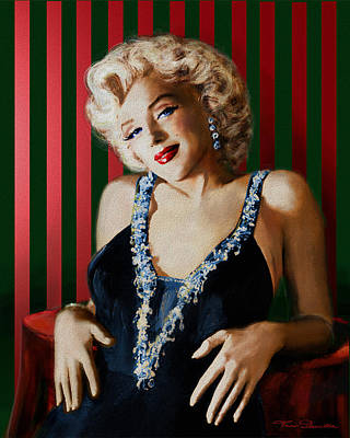 Marilyn Monroe Painting - Marilyn 126 D Stripes by Theo Danella