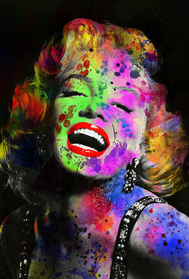 Beauty Mark Digital Art - Marilyn by Daniel Hagerman