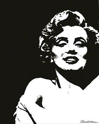 Norma Jean Drawing - Marilyn II by Jerrett Dornbusch