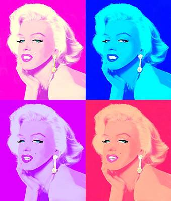 Woman Digital Art - Marilyn In Color by Cindy Edwards