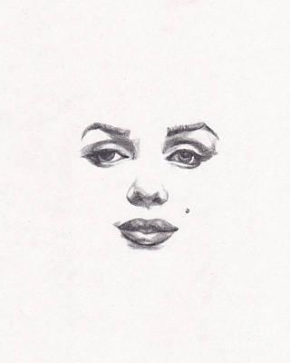 Marilyn Monroe Drawing - Marilyn by Lee Ann Shepard