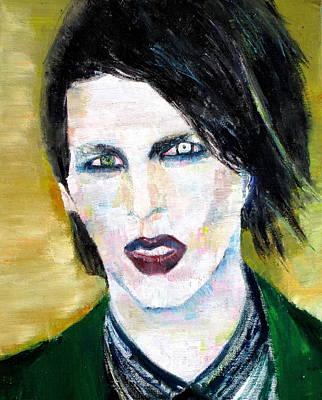 Manson Painting - Marilyn Manson Oil Portrait by Fabrizio Cassetta