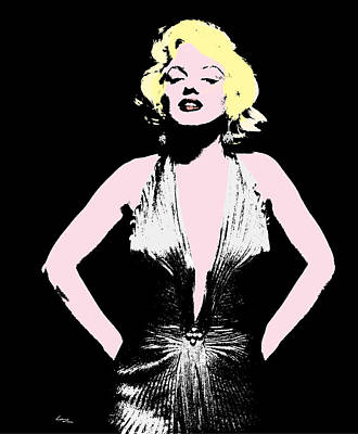 Elton John Digital Art - Marilyn Monroe - Pop by T Lang