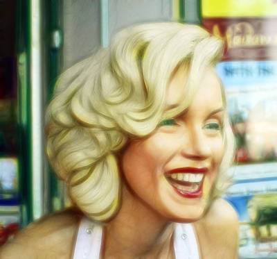 Marilyn Monroe 4 Print by Cindy Nunn