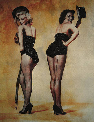 Ericamaxine Photograph - Marilyn Monroe And Jane Russell by EricaMaxine  Price