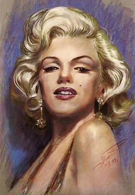 Singer Drawing - Marilyn Monroe by Viola El