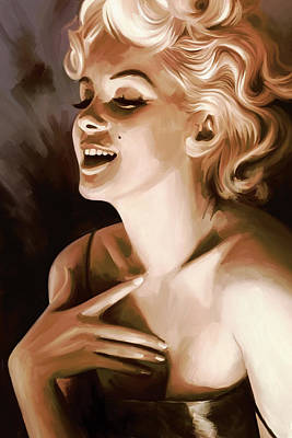 Actors Mixed Media - Marilyn Monroe Artwork 1 by Sheraz A