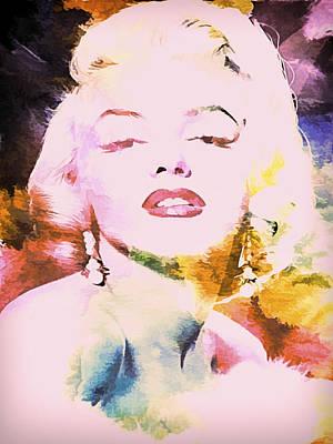 Marilyn Monroe Glamour II Print by Athena Mckinzie