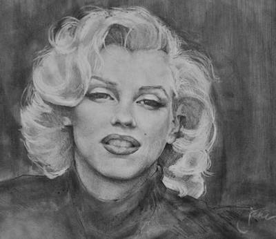 Norma Jean Drawing - Marilyn Monroe by Jani Freimann