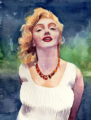 Jewels Drawing - Marilyn Monroe by Max Good