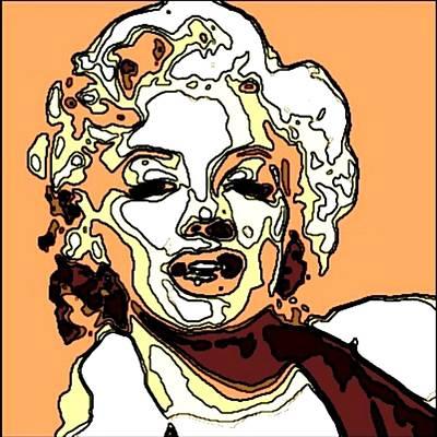 Marilyn Monroe Print by Nuno Marques