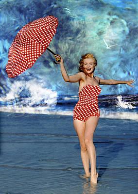 Ericamaxine Photograph - Marilyn Monroe - On The Beach by EricaMaxine  Price