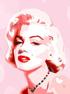 Popart Digital Art - Marilyn Monroe - Pink Dream Too - Pop Art by William Cuccio aka WCSmack