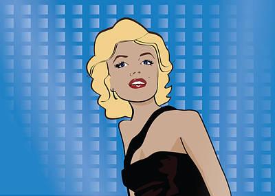 Caricature Photograph - Marilyn Monroe Pop Art by Sandi Fender