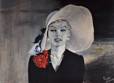 Monotone Painting - Marilyn Monroe by Praisey Peter