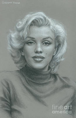 Norma Jean Drawing - Marilyn Monroe by Robert H Sibold