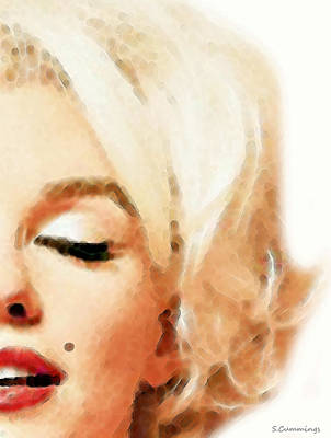 Marilyn Monroe - Sigh Print by Sharon Cummings