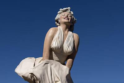 Marilyn Monroe Statue By Steward Johnson In Palm Springs Print by Carol M Highsmith