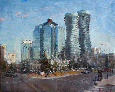 Skyscraper Painting - Marilyn Monroe Towers by Ylli Haruni