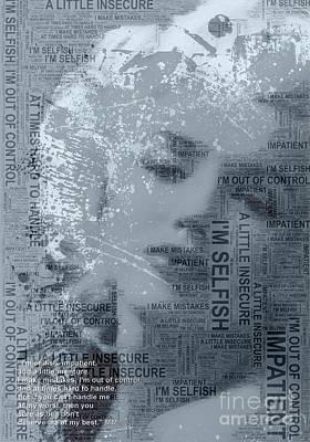 I Am Legend Digital Art - Marilyn Monroe's Iconic Quote by Julz Kinsella