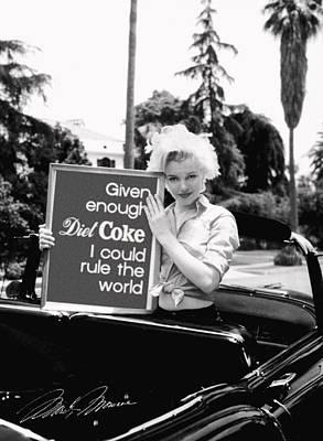 Marilyn Rules Print by Paul Van Scott
